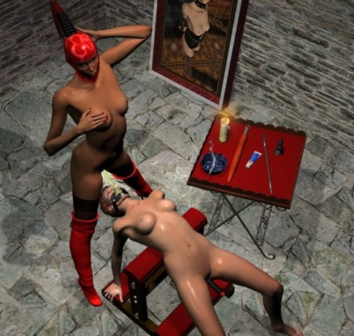 photos of female bondage to group of males