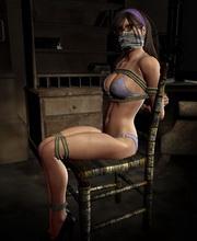 damsel bound gagged tied up