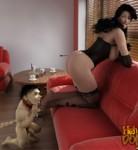 girl get spanking